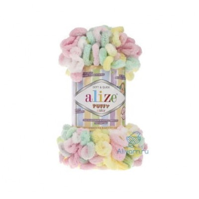 Alize Puffy Color, 100% полиэстер, цв. 5862
